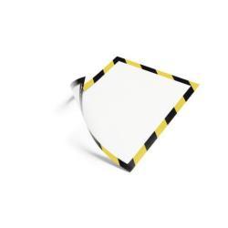 DURABLE DURAFRAME SECURITY - Porte-document - pour A4 - magnétique - jaune/noir (pack de 5)