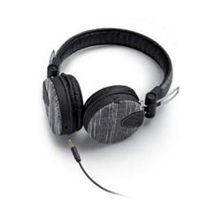 Meliconi MySound Speak DENIM - Casque avec micro - sur-oreille - jack 3,5mm - jean noir