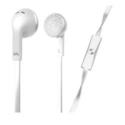 Meliconi MySound Speak FLAT - Écouteurs avec micro - embout auriculaire - jack 3,5mm - blanc