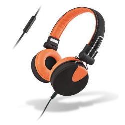 Meliconi MySound Speak STYLE - Casque avec micro - pleine taille - 3.5 mm plug - noir, orange