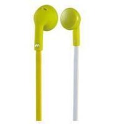 Meliconi MySound Speak FLAT - Écouteurs avec micro - embout auriculaire - jack 3.5mm - citron vert