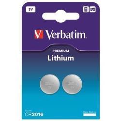 Pile Verbatim - Batterie 2 x CR2016 Li