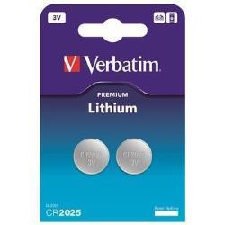 Pile Verbatim - Batterie 2 x CR2025 Li