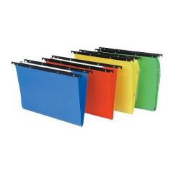 Porte-documents Bertesi Cartesio PP 500 - Dossier suspendu - base-V - à onglets - couleurs assorties (pack de 25)