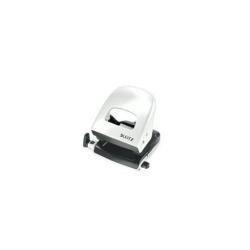 Perforatrice Leitz WOW NeXXt 5008 - Perforateur - 30 feuilles / 3 mm - métal - blanc perle