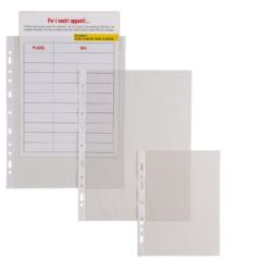 Porte-documents SEI ERCOLE - Pochette perforée - A4 - transparent (pack de 25)