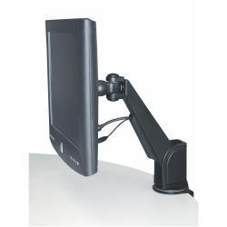 Support EXPONENT - Kit de montage ( bras articulé ) pour moniteur - noir - mural, plateau de table