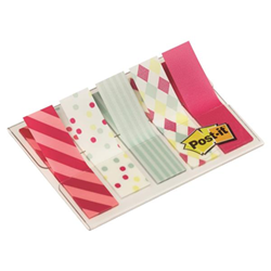 Post-it Post-it Candy Collection Index Mini 684-CAN5 - Adhesive strip - 11.9 x 43.2 mm (5 x 20) - blanc, rouge, crème, gris pastel