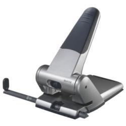 Perforatrice Leitz - Perforateur - robuste - 65 feuilles / 6.5 mm - aluminium moulé sous pression - argenté(e)