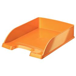 Leitz WOW Plus - Corbeille à courrier - A4 - orange métallisé