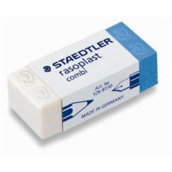 STAEDTLER rasoplast combi - Gomme - 4.3 x 1.9 x 1.3 cm - blanc/bleu