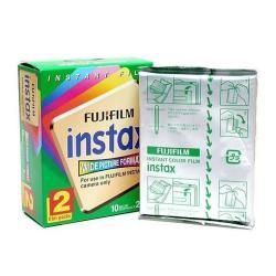 Fujifilm Instax Wide - Pellicule couleur à développement instantané - ISO 800 - 10 poses - 2 cassettes