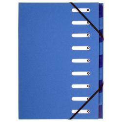 Boîte à archive Exacompta Forever Harmonika - Parapheur - 12 positions - A4 - à onglets - bleu clair