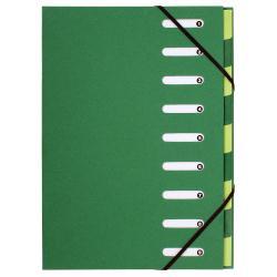 Boîte à archive Exacompta Forever Harmonika - Parapheur - extensible - 9 pochettes - 9 positions - A4 - pour 1350 feuilles - à onglets - vert foncé