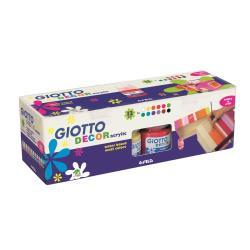 GIOTTO DECOR - Peinture - acrylique - assortiment de couleurs aquarelle - 25 ml - pack de 12