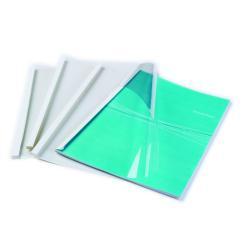 Couverture Fellowes Standing - 3 mm - A4 (210 x 297 mm) - 32 feuilles - 150 micromètres - blanc - 200 g/m² - 100 unités couverture à reliure thermique - pour Fellowes Helios 30, Helios 60