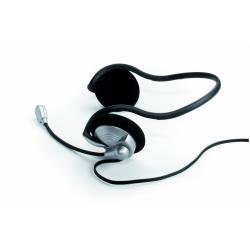 Exponent Multimedia Micro and Headset - Casque - sur-oreille - noir