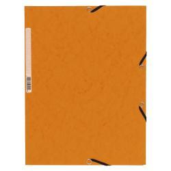 Porte-documents Exacompta Nature Future - Chemise à 3 rabats - A4 - pour 250 feuilles - orange moucheté