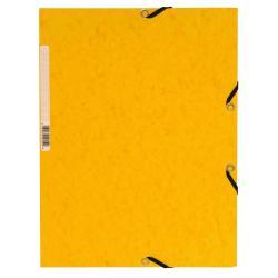 Porte-documents Exacompta Nature Future - Chemise à 3 rabats - A4 - pour 250 feuilles - jaune tacheté