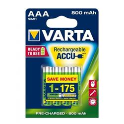 Pile Varta Power Accu - Batterie 4 x AAA NiMH 800 mAh