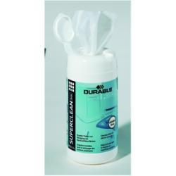 Produit de nettoyage DURABLE Superclean Box - Chiffons de nettoyage - blanc