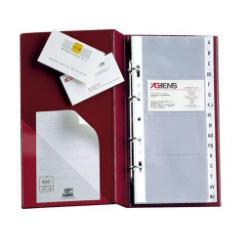 Boîte à archive SEI VISITA MC 30 - Classeur pour cartes de visite - 40 pochettes - pour 320 cartes - noir