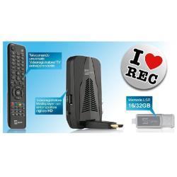 Décodeur TELE System TS6010HD REC16 - Tuner TV numérique DVB/lecteur numérique (enregistreur)