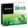 DVD Sony - Dvd+r double layer 8 5 gb sp 5 pz