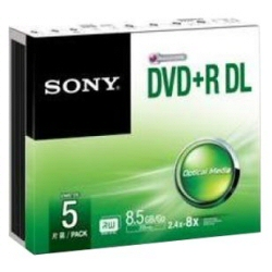 DVD Sony - Dvd+r double layer 8 5 gb sp 5 pz