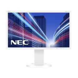 "Écran LED NEC MultiSync E224Wi - Écran LED - 22"" (21.5"" visualisable) - 1920 x 1080 Full HD (1080p) - IPS - 250 cd/m² - 1000:1 - 6 ms - DVI-D, VGA, DisplayPort - blanc"