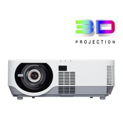 Vid�oprojecteur NEC P502W - Projecteur DLP - 3D - 5000 lumens - WXGA (1280 x 800) - 16:10 - HD 720p - LAN