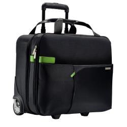 Sacoche Leitz Complete Smart Traveller - Valise verticale - cuir véritable, métal, polyester - noir