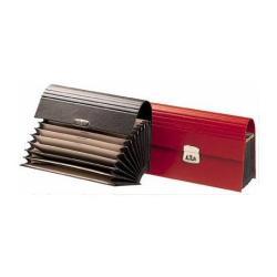 Boîte à archive Fraschini - Trieur - 12 pochettes - 12 positions - Jan-Dec - 280 x 130 mm - rouge