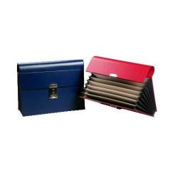 Boîte à archive Fraschini - Trieur - 8 pochettes - A4, 330 x 230 mm - bleu