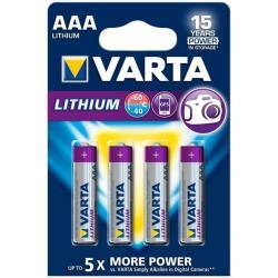 Pile Varta Professional Lithium - Batterie 4 x AAA Li 1100 mAh