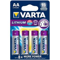 Pile Varta Professional Lithium - Batterie 4 x AA Li 2900 mAh