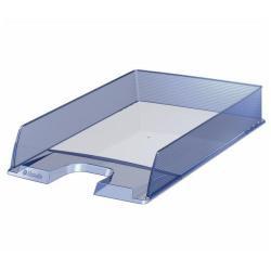 Bac à courrier Esselte Europost - Corbeille à courrier - A4 - pour 370 feuilles - Bleu clair translucide