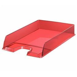 Bac à courrier Esselte Europost - Corbeille à courrier - A4 - pour 370 feuilles - rouge transparent