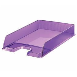 Bac à courrier Esselte Europost - Corbeille à courrier - A4 - pour 370 feuilles - violet transparent