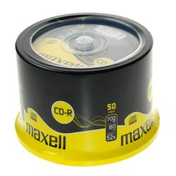 Maxell - 50 x CD-R - 700 Mo ( 80 min ) 52x - surface imprimable - spindle