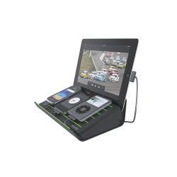 Chargeur Leitz Multicharger - Poste de chargement lecteur numérique / téléphone / tablette - 4 connecteurs de sortie (mini USB type A, Apple Dock, Micro-USB Type A) - noir - pour Apple iPad/iPhone/iPod (Apple Dock)