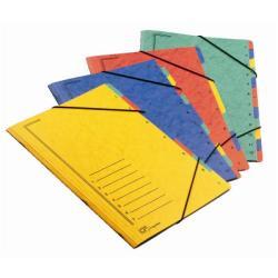 Porte-documents Fraschini - Trieur - 12 compartiments - 12 positions - 240 x 340 mm - à onglets - disponible dans différentes couleurs