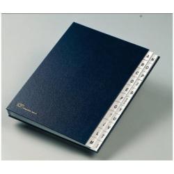 Boîte à archive Fraschini - Trieur - 22 compartiments - 22 positions - pré-imprimé : A-Z - 240 x 340 mm - à onglets - bleu