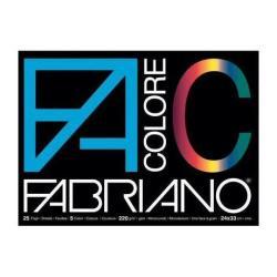 Fabriano Colore - Papier - 330 x 480 mm - 25 feuilles - noir, bleu, jaune, rouge, vert - 220 g/m²