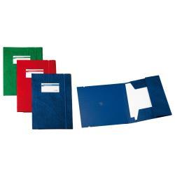 Porte-documents SEI ARCHIVIO 3L F - Chemise à 3 rabats - 250 x 350 mm - bleu