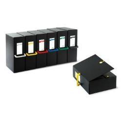 Boîte à archive SEI BIG NEXT - Boîte de classement - 120 mm - 250 x 350 mm - black with yellow handle