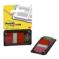 Post-it Post-it Index I680-1 - Marques-pages pour index avec dévidoir - 25.4 x 43.2 mm - 50 feuilles - rouge
