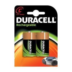 Pile Duracell Rechargeable - Batterie 2 x C NiMH 2200 mAh (pack de 10)