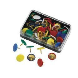 Molho Leone - Punaises - recouvert de plastique - couleurs assorties - pack de 50