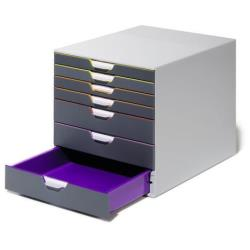 DURABLE VARICOLOR 7 - Bloc de classement à tiroirs - 7 tiroirs - Letter, A4, C4, Folio